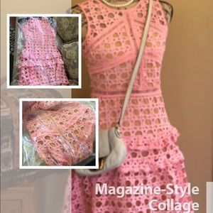 Pink lace dress by: haute Rogue newyork